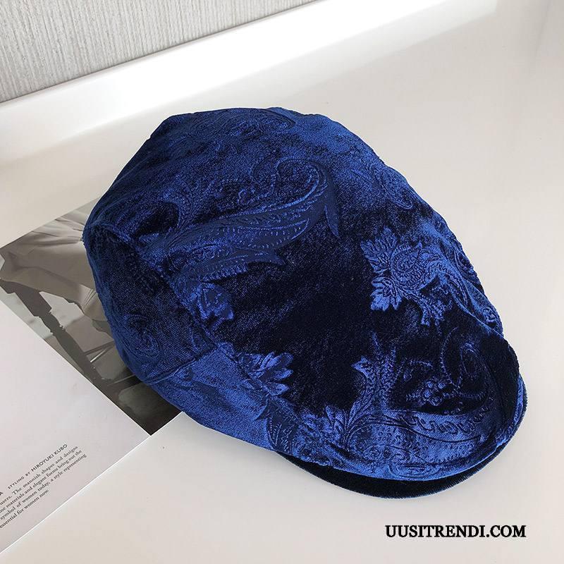 Hattu Miesten Osta Vintage Naisille Shade Miehille Suuntaus Royal Sininen