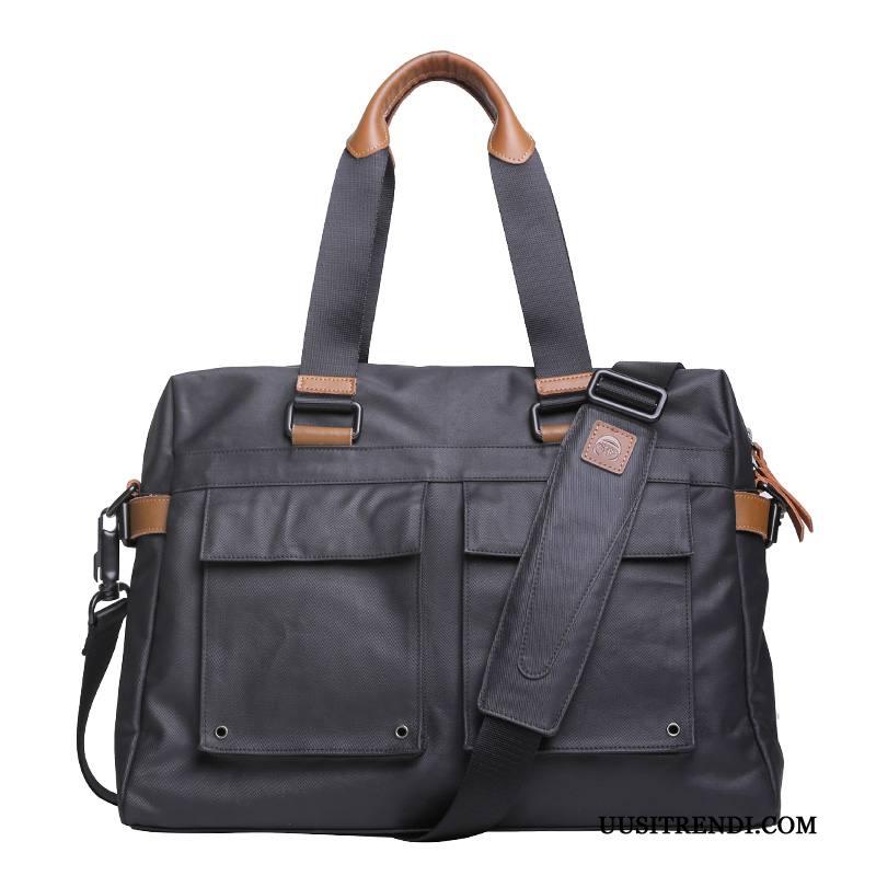 Käsilaukut Miesten Verkossa Käsilaukku Matkustaminen Kangas Suuri Kapasiteetti Liiketoiminta Musta