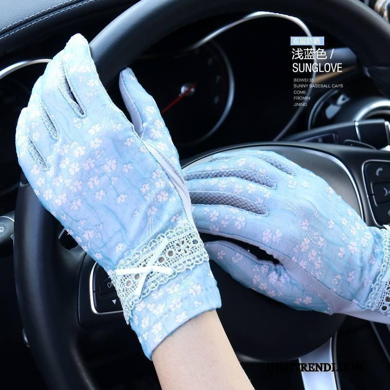 Käsineet Naisten Myynti Käytös Naisille Kosketusnäyttö Pyöräillen Kesä Violetti Sininen