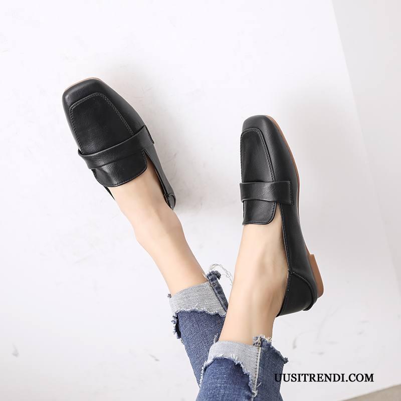 Mokkasiinit Naisten Osta Vintage Kengät Brittiläinen Kaikki Ottelut Naisille Musta Vaalean