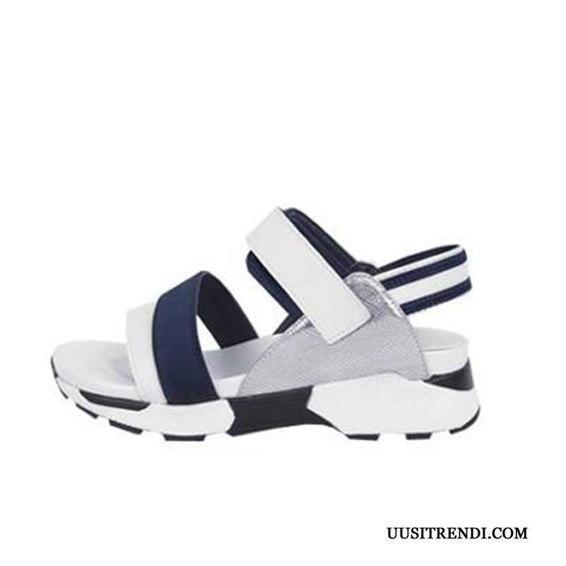 Sandaalit Naisten Halvat Tasainen Litteät Kaikki Ottelut Yksinkertainen Naisille Valkoinen Punainen