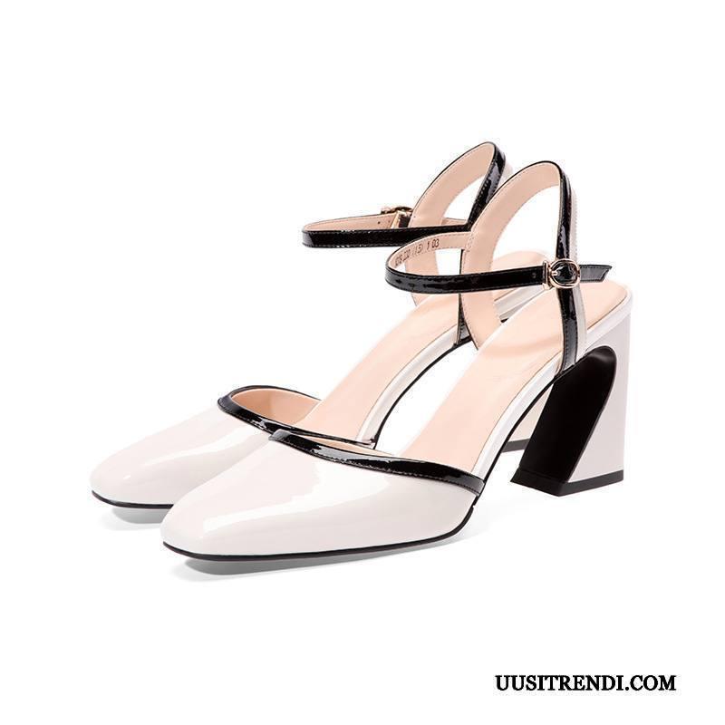 Sandaalit Naisten Myynti Kesä Kengät Aito Nahka Naisille Paksu
