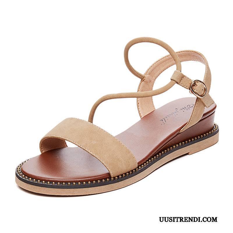 Sandaalit Naisten Osta Kiilakorkokengät Kaikki Ottelut Rooma Vintage Naisille Punainen