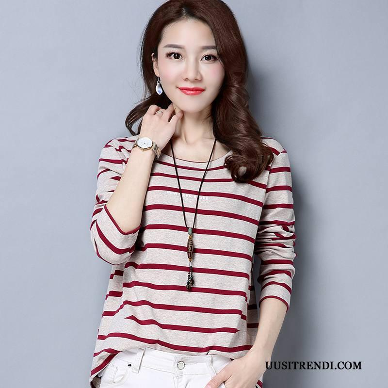 T-paidat Naisten Verkossa Uusi Naisille Trendi Casual Löysät Punainen