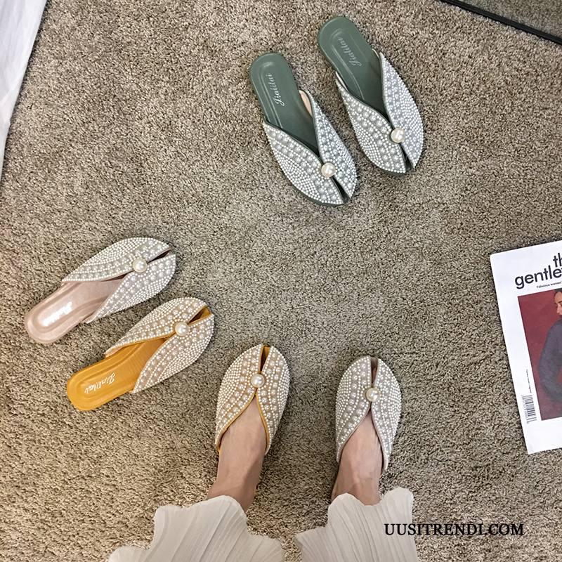 Tohvelit Naisten Myynti Tossut Tasainen Kengät Muoti Kaikki Ottelut Vihreä Punainen