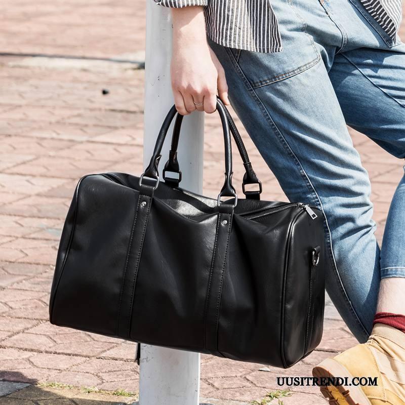 Vaellusreppu Miesten Osta Käsilaukku Lyhyt Matkatavarat Matkustaminen Miehille Musta